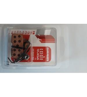 Coppia pastiglie SRAM freni a disco CODE modello 2011 (nel kit è inclusa anche la molla)
