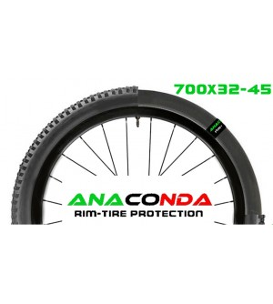 Anaconda rim tire protection set Gravel 700x32-45 più valvole carbon