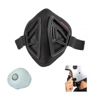 Maschera antismog integrabile con caschi jet e demi-jet